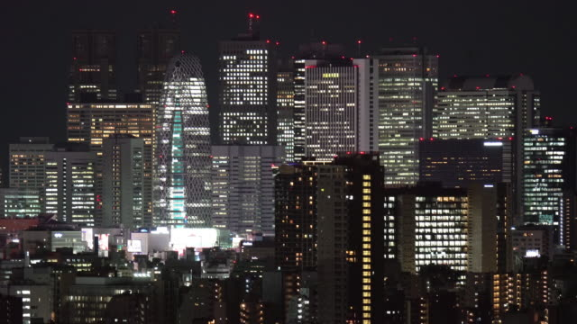 aerial view of tokyo skyscraper and skyline at shinjuku ward japan - roppongi stock videos and b-roll footage