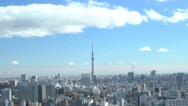 aerial view of tokyo skytree - day stock videos & royalty-free footage