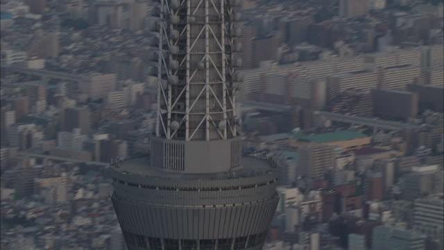 aerial view of tokyo, tokyo skytree observatory. - スカイツリー点の映像素材/bロール