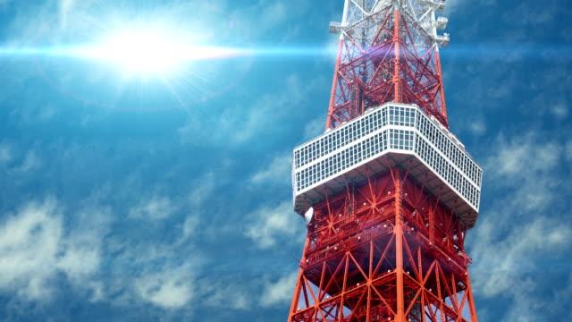 Aerial View of Tokyo Tower, Tokyo JAPAN