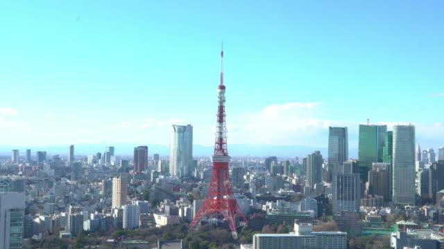 上空から見た東京のタワー - day点の映像素材/bロール