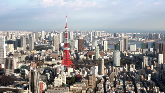Aerial View of Tokyo Tower