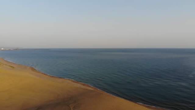 aerial view of tottori sand dunes - sand dune stock videos & royalty-free footage