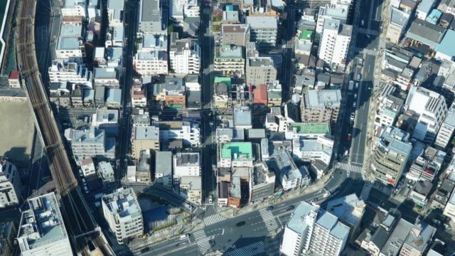 上空からの眺め東京市の交通