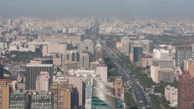 china: economy beijing skyline and cityscape 2 - beijing stock videos & royalty-free footage