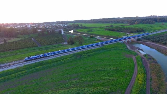 stockvideo's en b-roll-footage met aerial view of train ride in  the train - commercieel landvoertuig