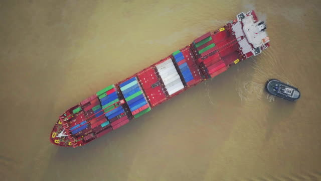 aerial view of transportation logistics - oil tanker stock videos and b-roll footage