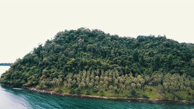 vídeos y material grabado en eventos de stock de vista aérea de playa de arena blanca tropical. koh kood. tailandia. - mar de andamán
