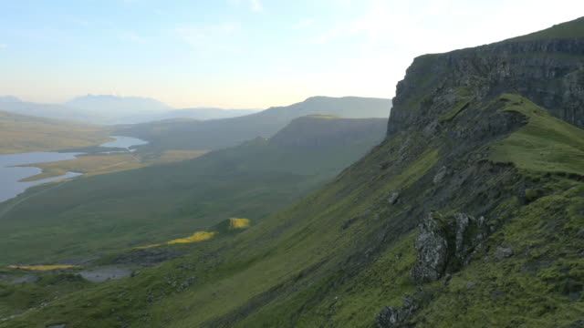 Aerial view of Trotternish Ridge near Old Man