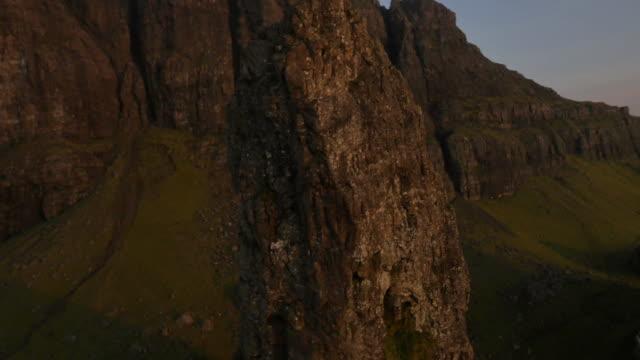 aerial view of trotternish ridge near old man - hebriderna bildbanksvideor och videomaterial från bakom kulisserna