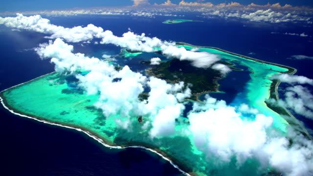 Aerial view of Tupai and Bora Bora Island