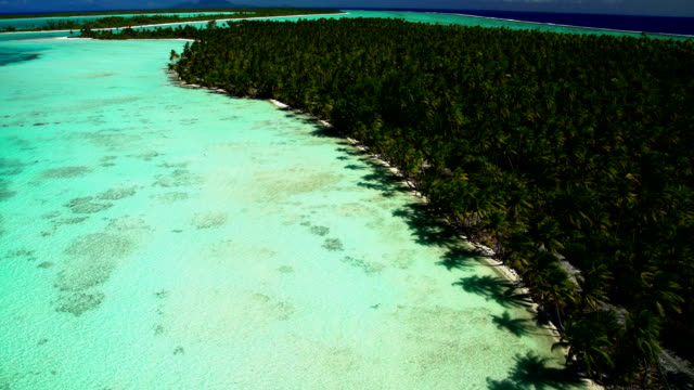 Aerial view of Tupai Heart Island South Pacific