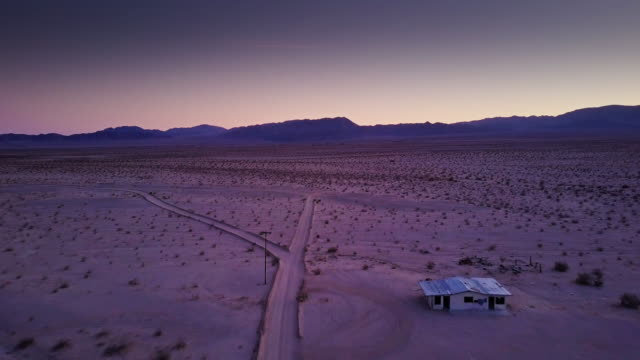 aerial view of twentynine palms after sunset - remote location stock videos and b-roll footage