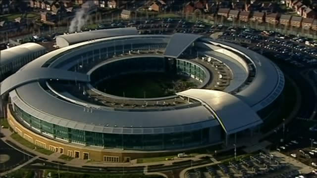 Aerial view of UK Government Communications Headquarters GCHQ