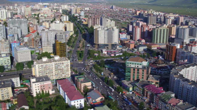 aerial view of ulan bator city in mongolia - independent mongolia stock videos and b-roll footage
