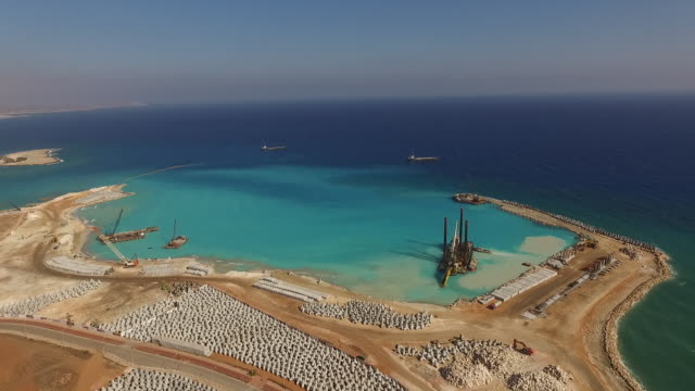 Aerial view of under construction Ayia Napa Marina