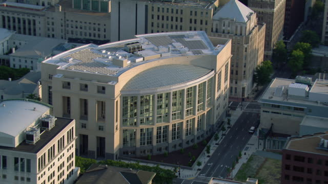 aerial view of united states district court eastern district of virginia, richmond, virginia, united states of america. - government building stock videos & royalty-free footage