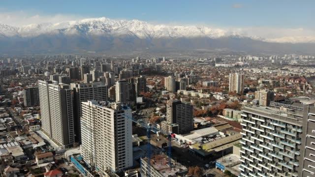 aerial view of ñuñoa district in santiago metropolitan region, chile - chile stock videos & royalty-free footage