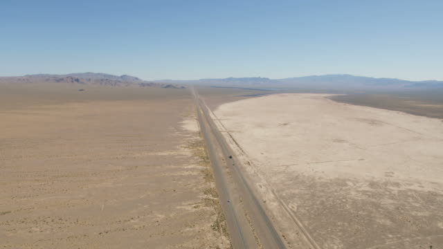 aerial view of us95 highway mojave desert nevada - wilderness stock videos & royalty-free footage