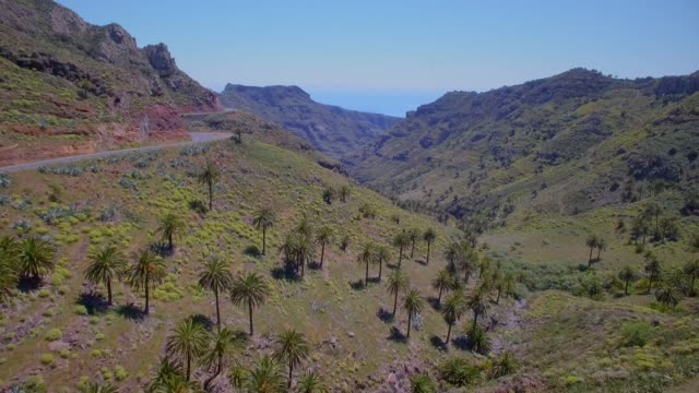 Aerial view of Valley near by Vegaipala on Canary Islands La Gomera in the province of Santa Cruz de Tenerife - Spain
