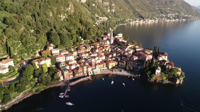 Aerial view of Varenna village