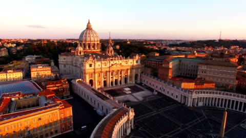 aerial view of vatican city at morning - rome italy stock videos & royalty-free footage
