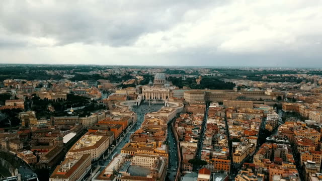 aerial view of vatican city - state of the vatican city stock videos & royalty-free footage