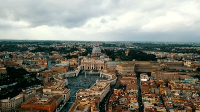 aerial view of vatican city - pope stock videos & royalty-free footage