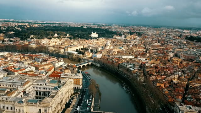 aerial view of vatican city - rome italy stock videos and b-roll footage