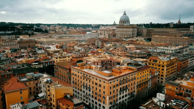aerial view of vatican city - rome italy stock videos & royalty-free footage