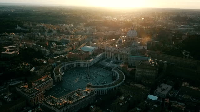 aerial view of vatican city - courtyard stock videos & royalty-free footage