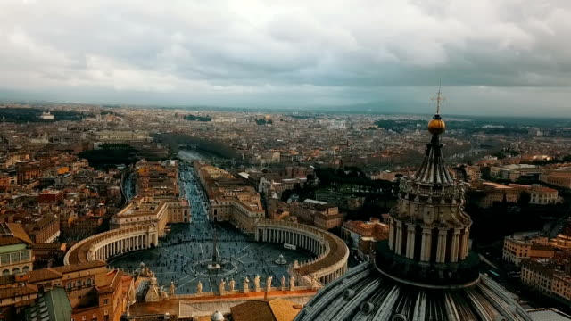 aerial view of vatican city - international landmark stock videos & royalty-free footage