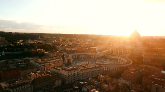 aerial view of vatican city - cristianesimo video stock e b–roll
