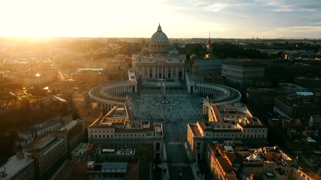 aerial view of vatican city - square stock videos & royalty-free footage
