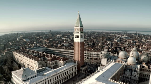 aerial view of venice - painted image stock videos & royalty-free footage