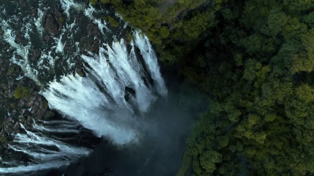 aerial view of victoria falls, zimbabwe - drone 4k - awe stock videos & royalty-free footage