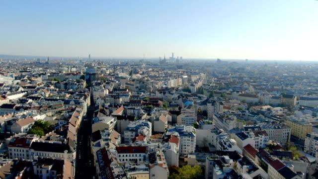 aerial view of vienna city center/ austria - vienna austria stock videos & royalty-free footage