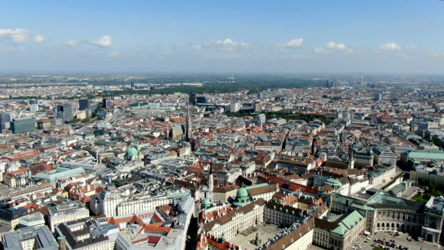 aerial view of vienna city center ,st. stephen's cathedral/ austria - vienna stock videos & royalty-free footage