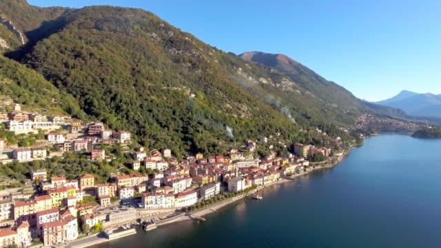 Luftaufnahme des Dorfes am See