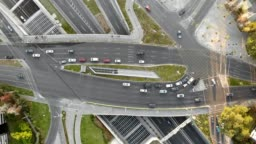 Aerial view of Vitacura and Kennedy Avenues intersection
