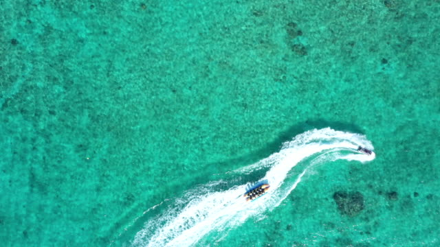 aerial view of wakeboarding - waterskiing stock videos & royalty-free footage