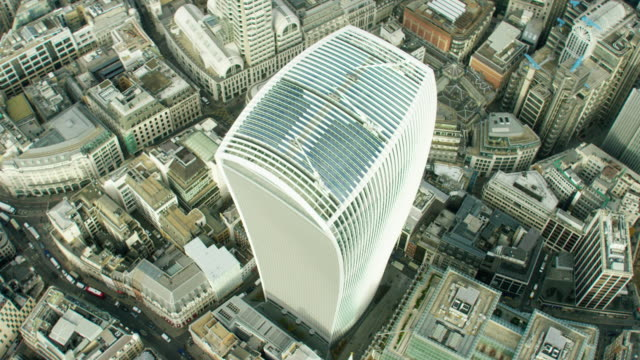 Aerial view of Walkie Talkie building in London