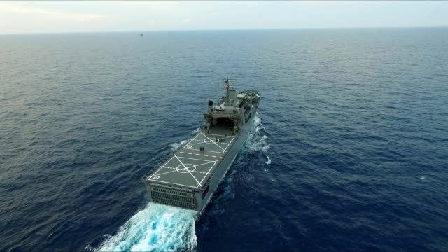 aerial view of warship - antenna aerial stock videos & royalty-free footage