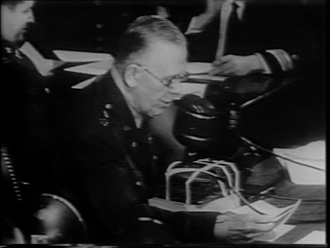 aerial view of washington dc / james byrnes testifies before senate foreign relations committee /committee sit with one another at table/ attendees... - general military rank stock videos and b-roll footage
