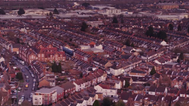 aerial view of watford, england - row house stock videos & royalty-free footage