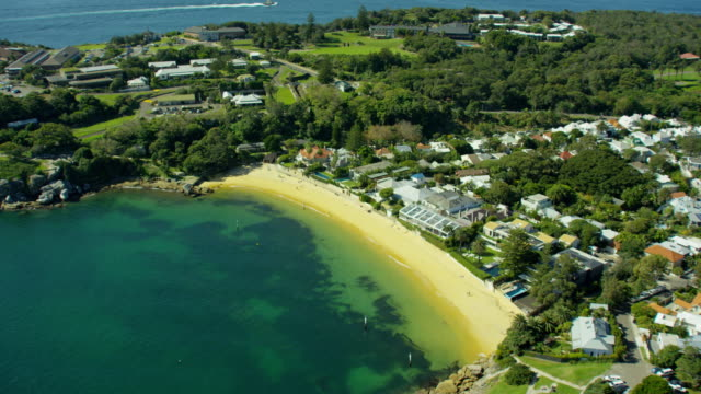 aerial view of watsons bay sydney australia - bay of water stock videos & royalty-free footage