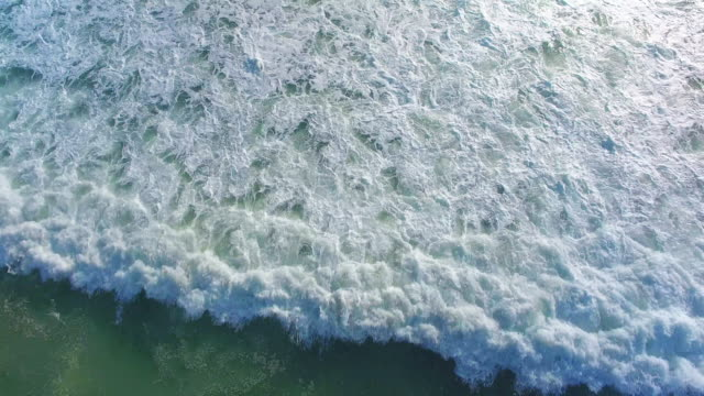 Aerial view of waves.