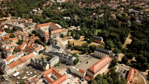 aerial view of weimar, germany - weimar stock videos & royalty-free footage