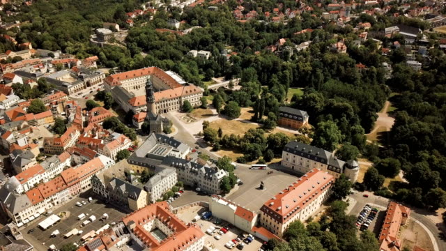 aerial view of weimar, germany - weimar video stock e b–roll