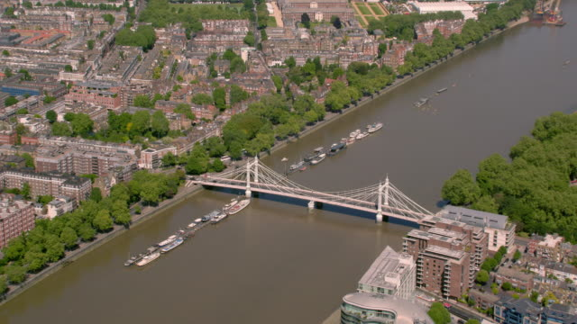 aerial view of west london, uk. 4k - wide shot stock videos & royalty-free footage